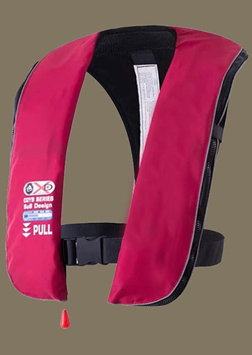 ZenkeCn 150N Youth Inflatable Lifejakcet-red